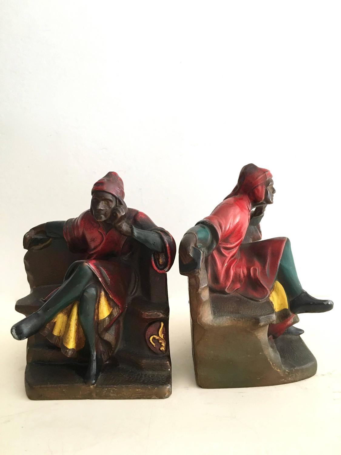 Pair Of Dante Bookends For Sale At 1stdibs