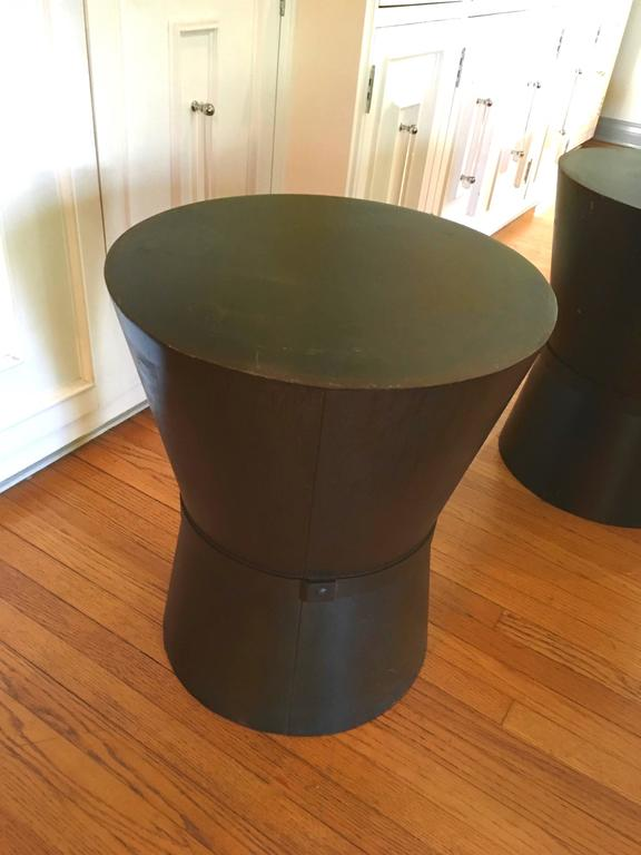 Four Metal Drum Style Tables Stool Benches For Sale At 1stdibs
