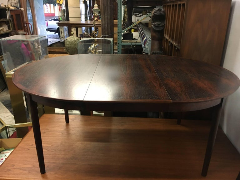 Niels Otto Moller Expanding Rosewood Dining Table, circa 1960 For Sale 3