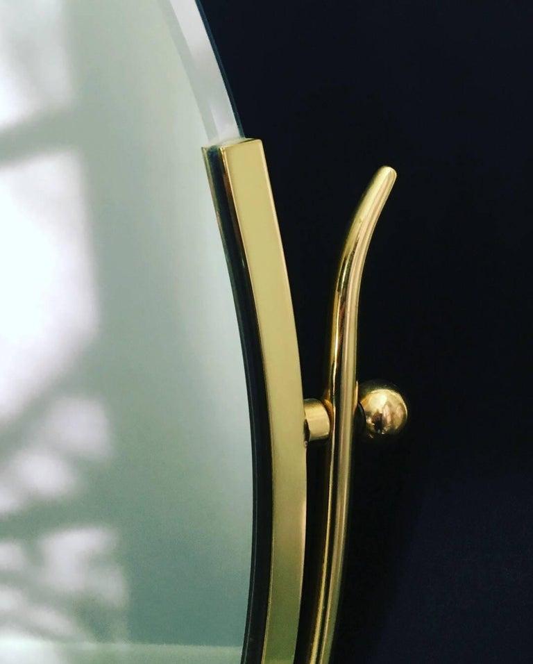 Charles Hollis Jones Brass Wishbone Vanity Mirror For Sale 1