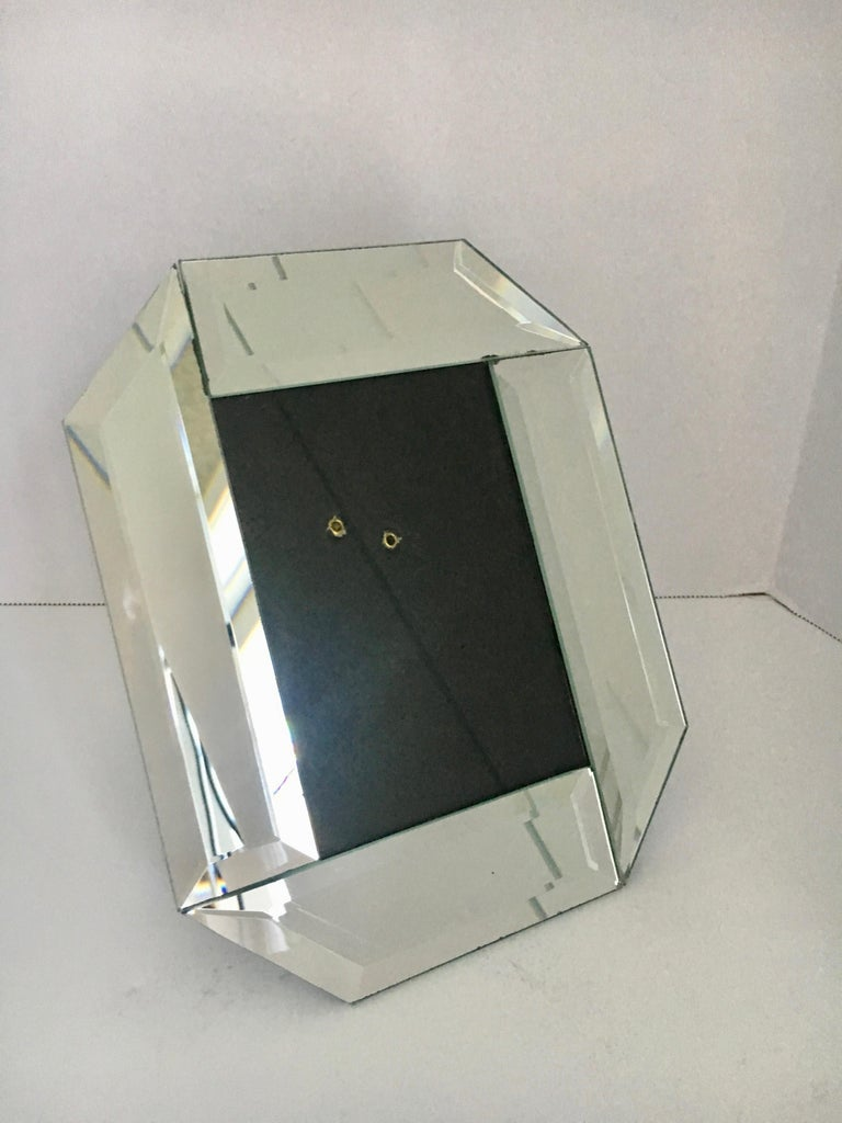 3 x 5 Beveled Mirror Picture Frame In Good Condition For Sale In Los Angeles, CA