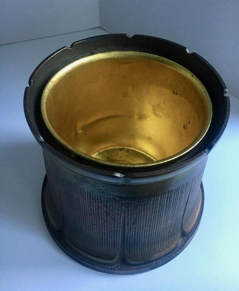 Brass Tobacco 420 Desktop Lidded Humidor For Sale 4