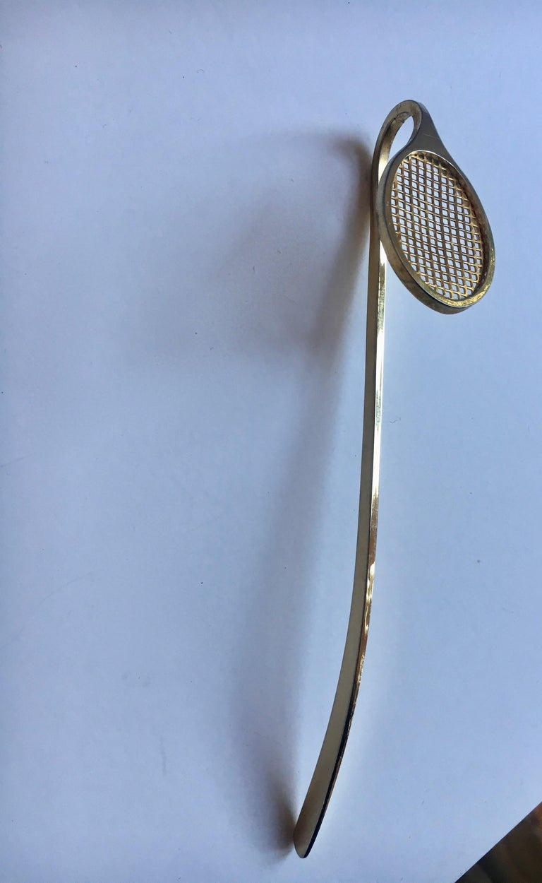 Gold Tennis Racquet Bookmark For Sale 5