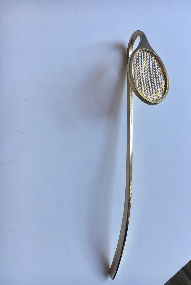 Gold Tennis Racquet Bookmark For Sale 6
