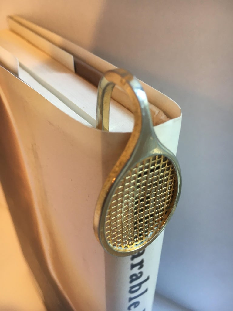 Gold Tennis Racquet Bookmark For Sale 8