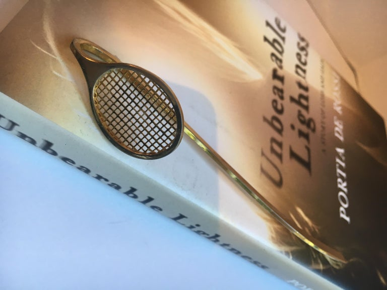 Gold Tennis Racquet Bookmark For Sale 9