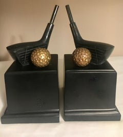 Pair of Golf Bookends