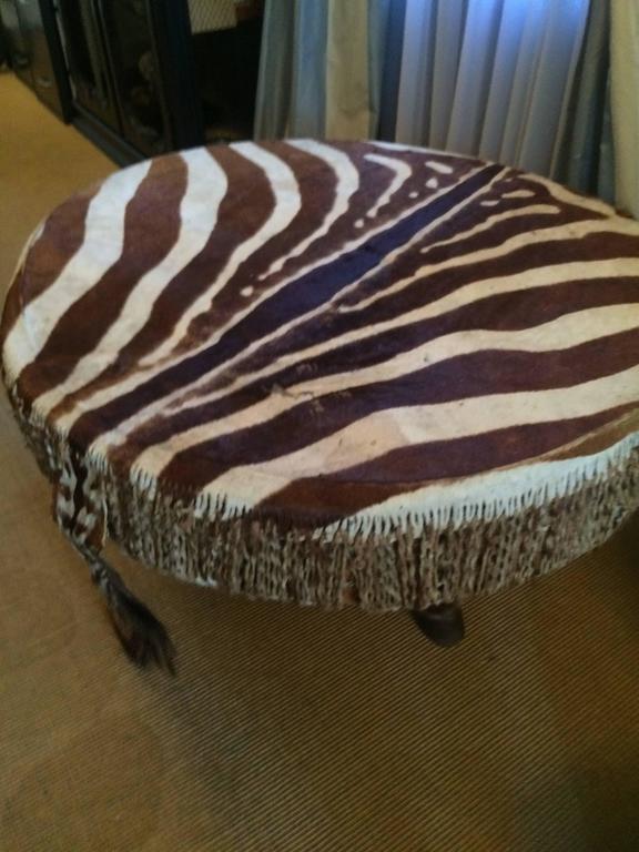 zebra drum table from ghana for sale at 1stdibs. Black Bedroom Furniture Sets. Home Design Ideas