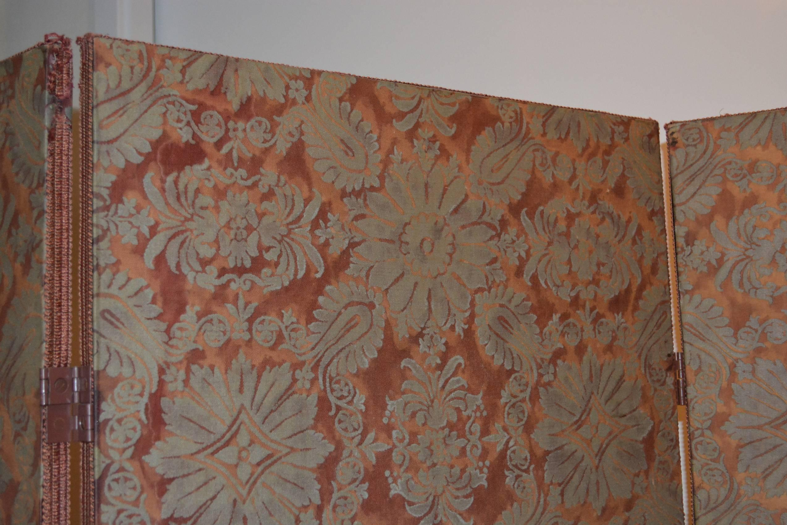 Vintage three panel fortuny screen for sale at 1stdibs sisterspd