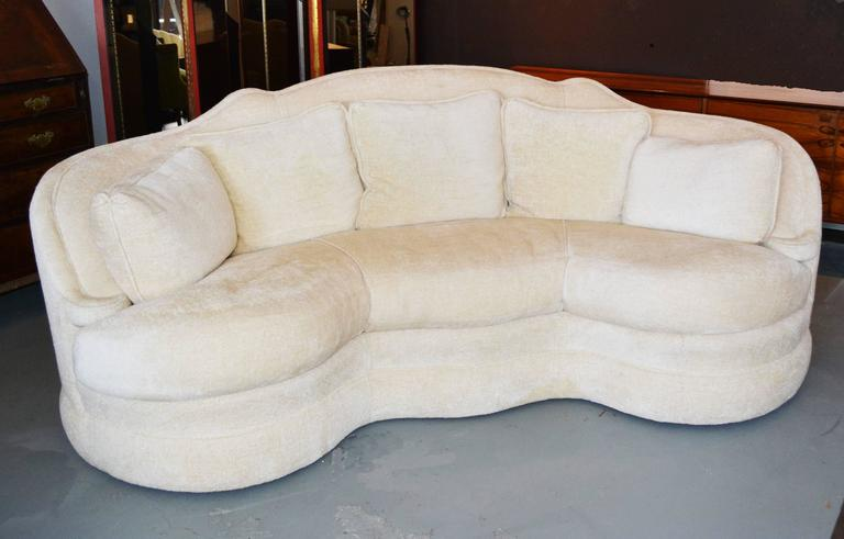 A Vintage Michael Taylor Schiaparelli Sofa In An Ivory Chenille.
