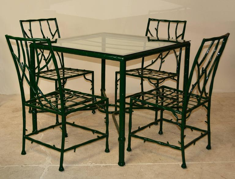 Faux Bois Outdoor Dining Set at 1stdibs