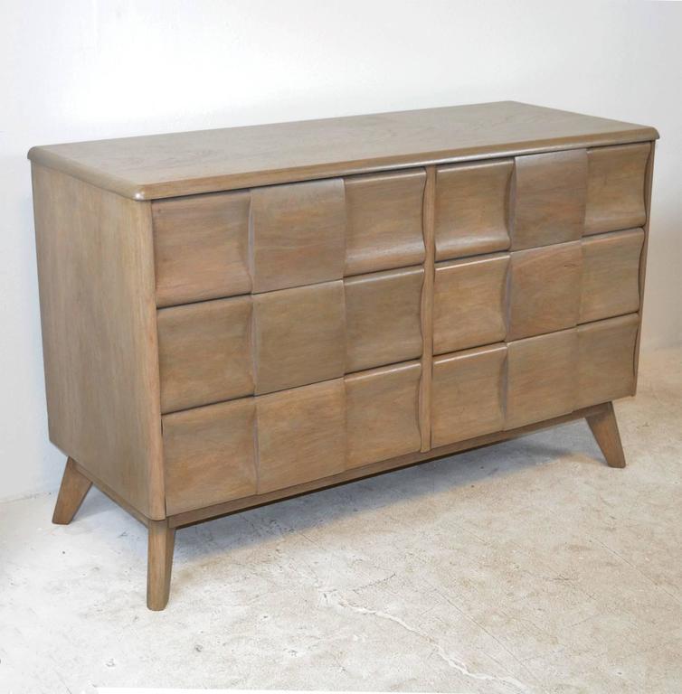 heywood wakefield sculptura bedroom set maple furniture mid century modern vintage