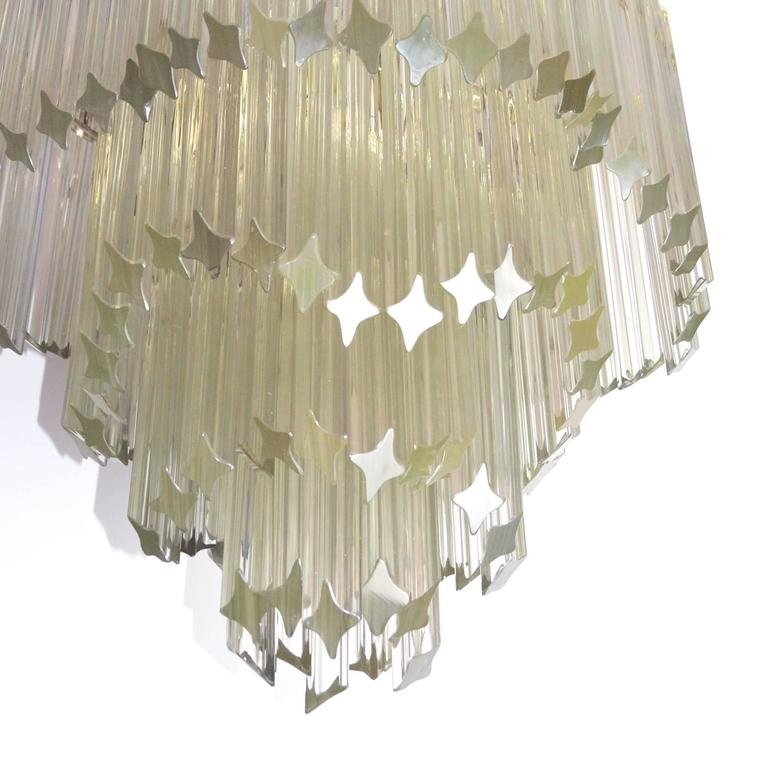 Italian Mid-Century Modern Venini for Camer Crystal Chandelier For Sale