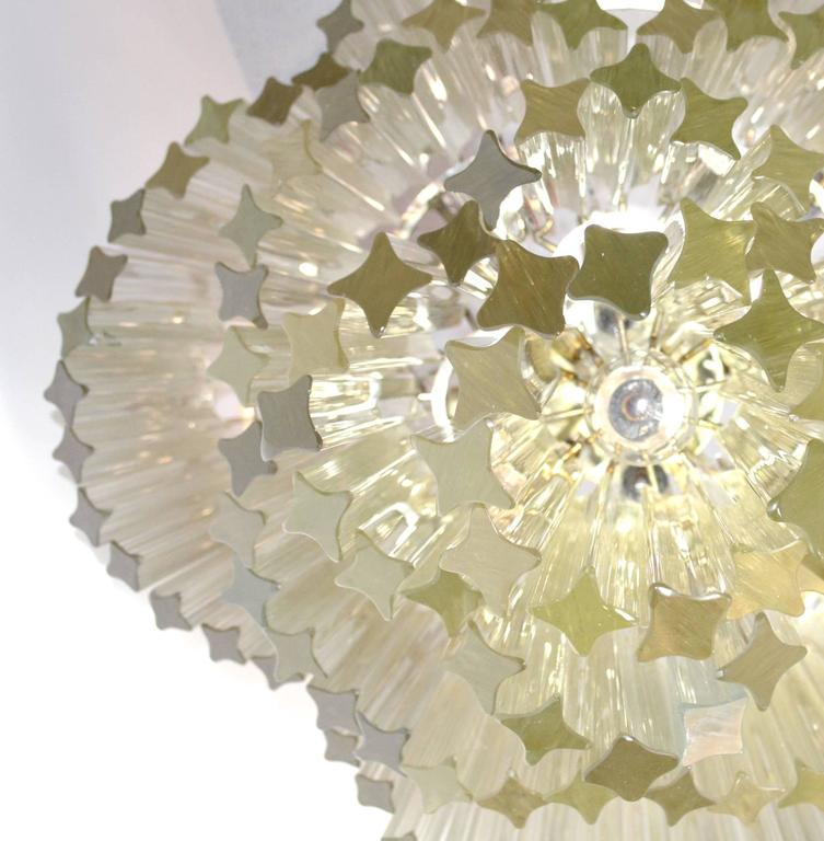 Murano Glass Mid-Century Modern Venini for Camer Crystal Chandelier For Sale