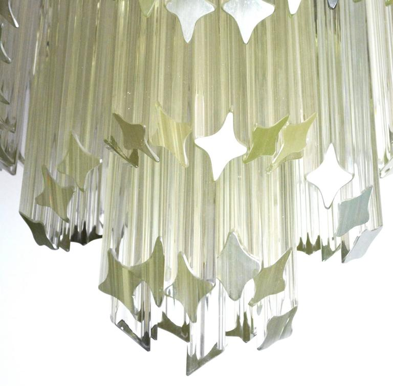 Mid-Century Modern Venini for Camer Crystal Chandelier In Excellent Condition For Sale In Palm Springs, CA