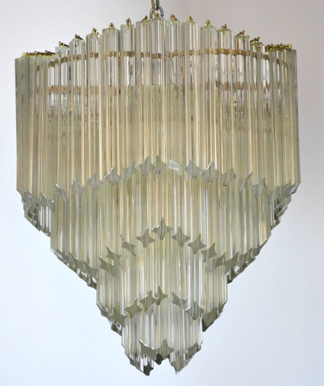 Mid-Century Modern Venini for Camer Crystal Chandelier For Sale 1