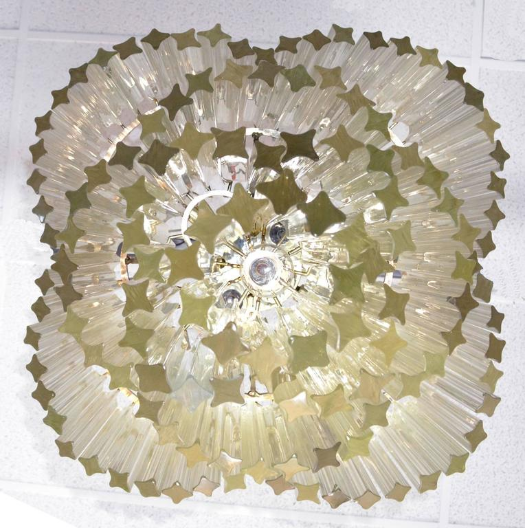 20th Century Mid-Century Modern Venini for Camer Crystal Chandelier For Sale