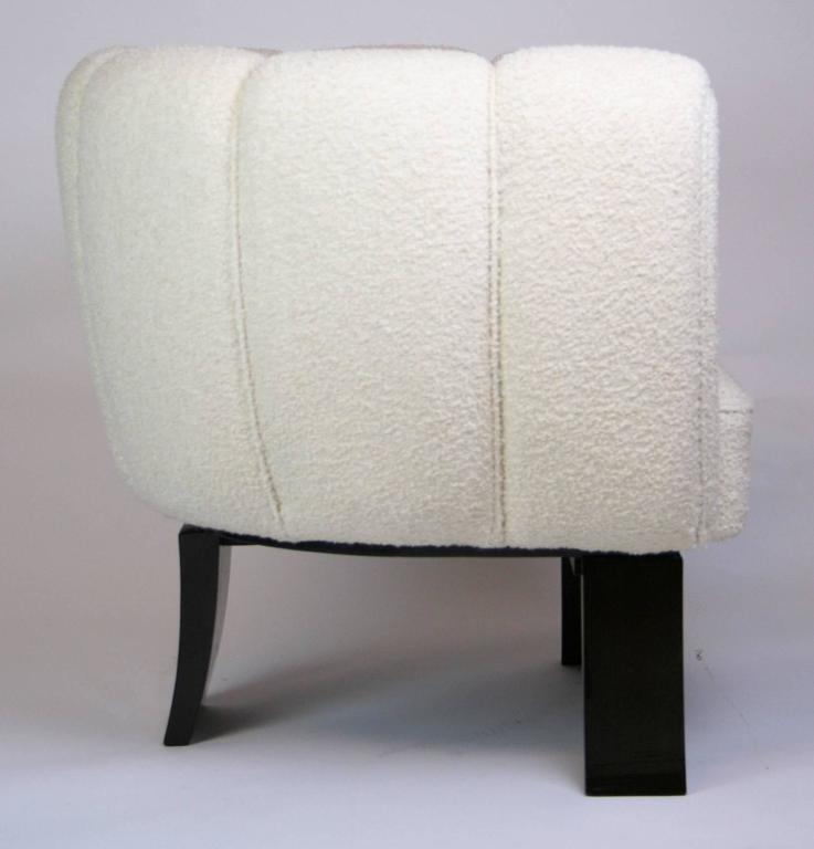 Ebonized Pair of Guglielmo Ulrich 1930s Art Deco Club Chairs For Sale