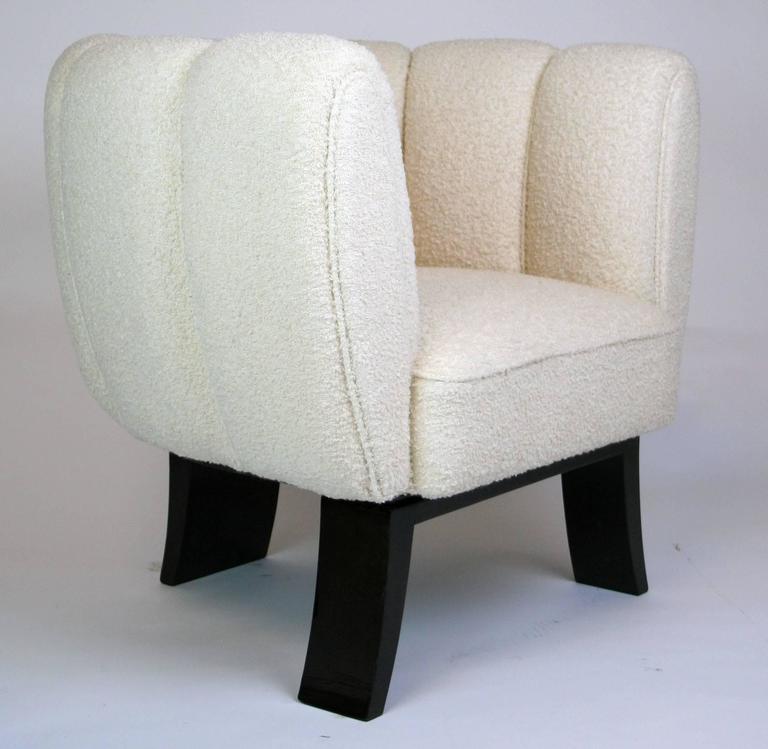 Italian Pair of Guglielmo Ulrich 1930s Art Deco Club Chairs For Sale