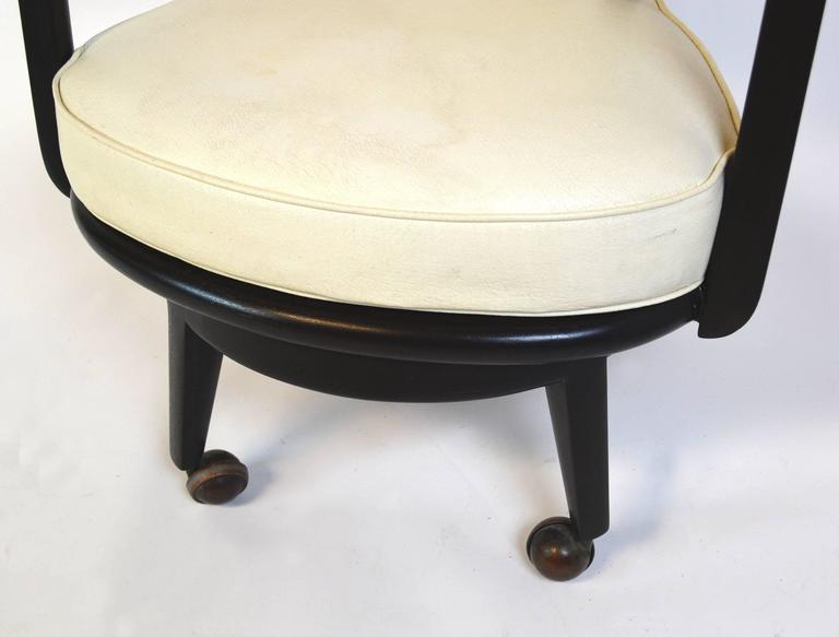 Ebonized Pair of Monteverdi-Young Swivel Chairs For Sale