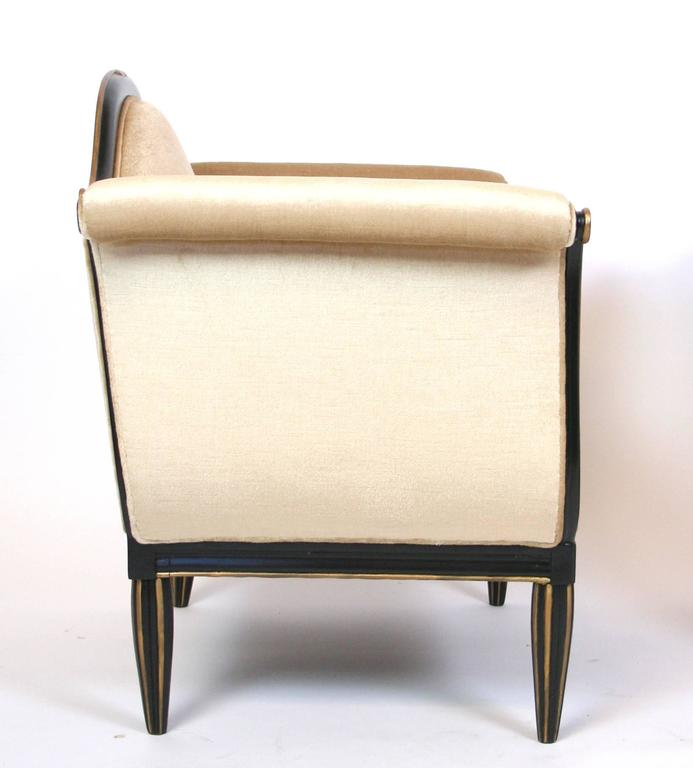 Pair of French Art Deco Lounge Chairs In Good Condition For Sale In Palm Springs, CA