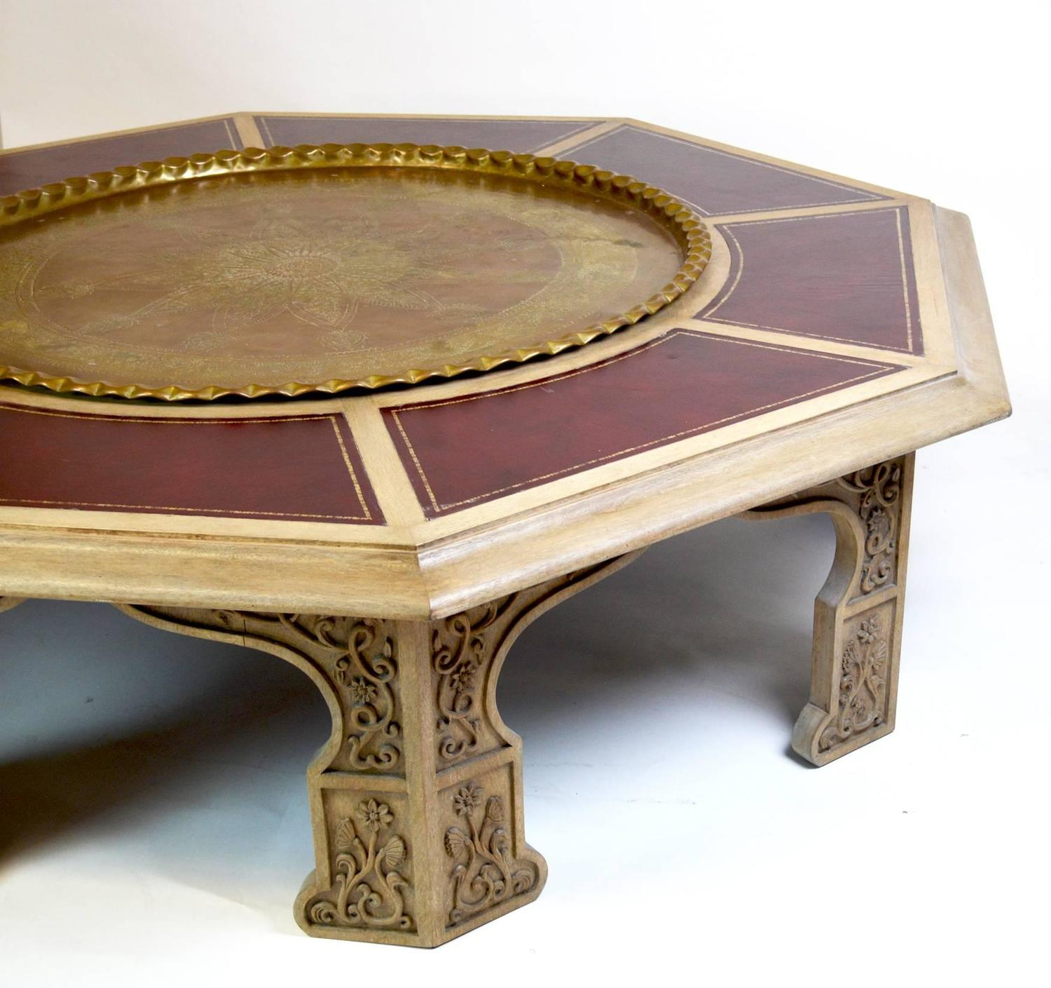 Huge Mid-Century Modern Moroccan Style Coffee Table For