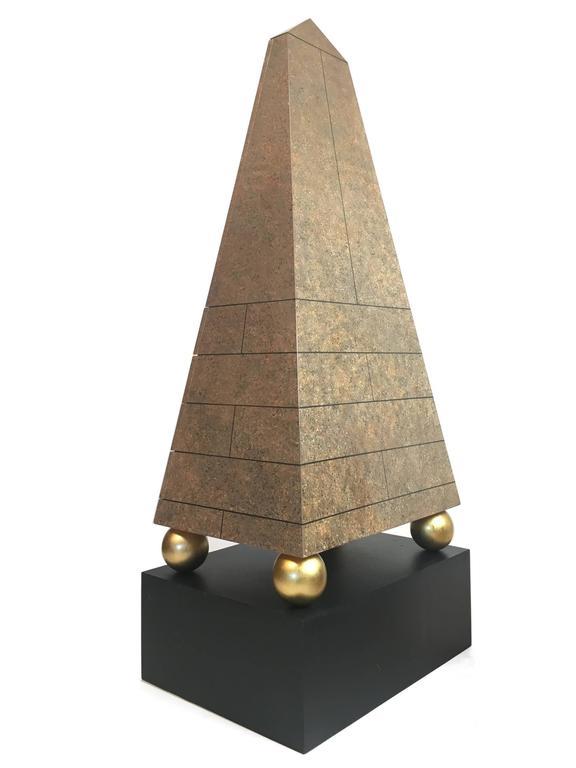 Pair Of Monumental Post Modern Obelisk Cabinets For Sale