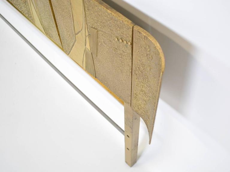 20th Century Bronze Italian Headboard by Frigerio For Sale