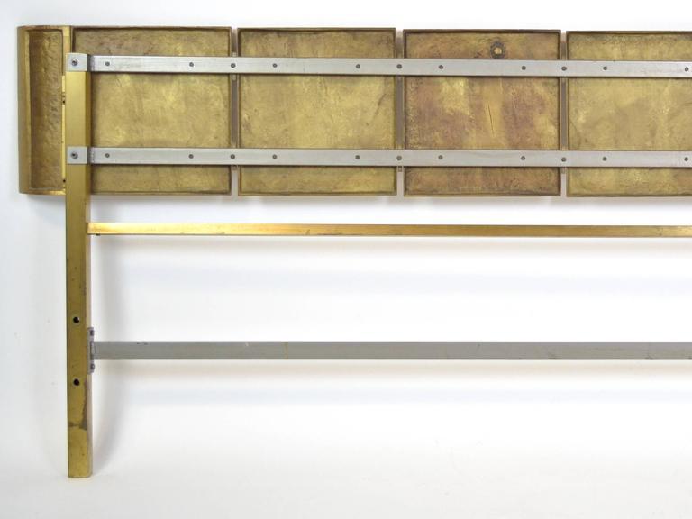 Bronze Italian Headboard by Frigerio For Sale 2