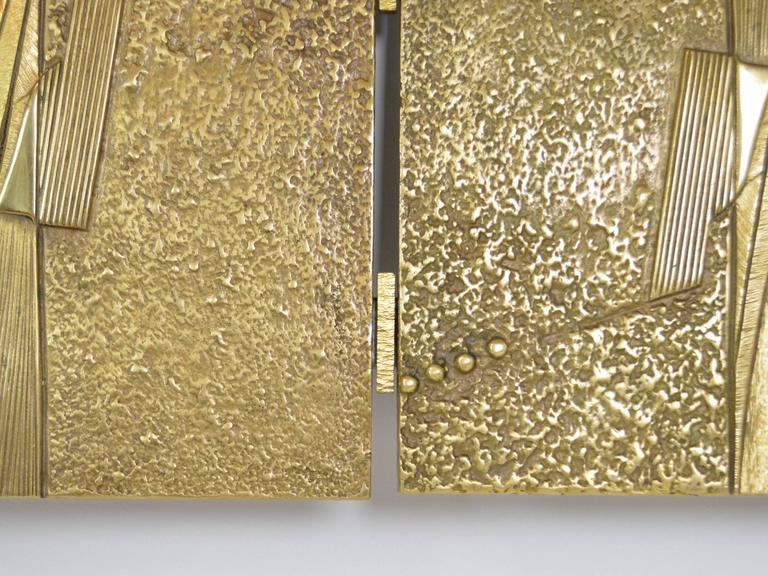 Bronze Italian Headboard by Frigerio For Sale 1
