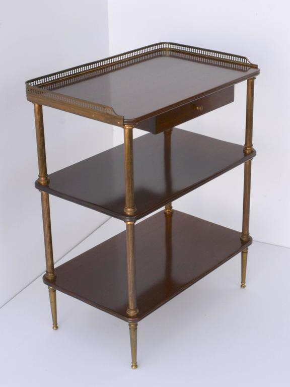 Neoclassical Pair of 1940s French Side Tables For Sale