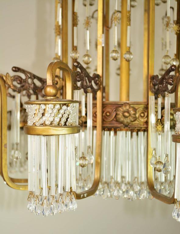 20th Century Art Deco Waterfall Chandelier For Sale