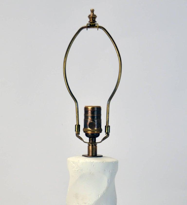 Organic Modern Cast Plaster Twist Lamp