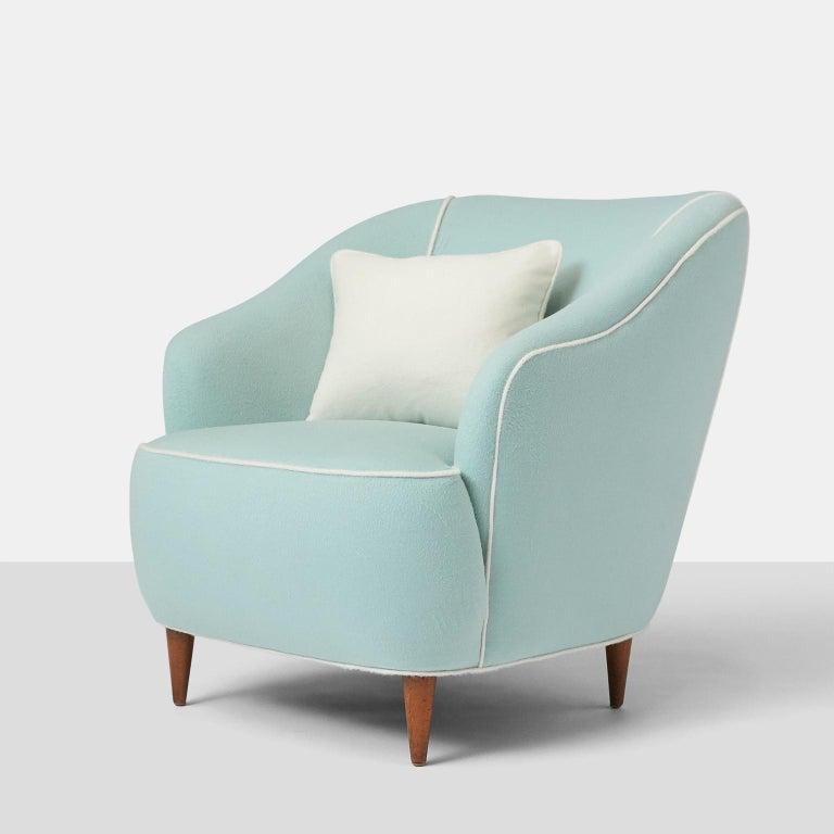 Italian Pair of Club Chairs by Gio Ponti for Casa Giardino For Sale