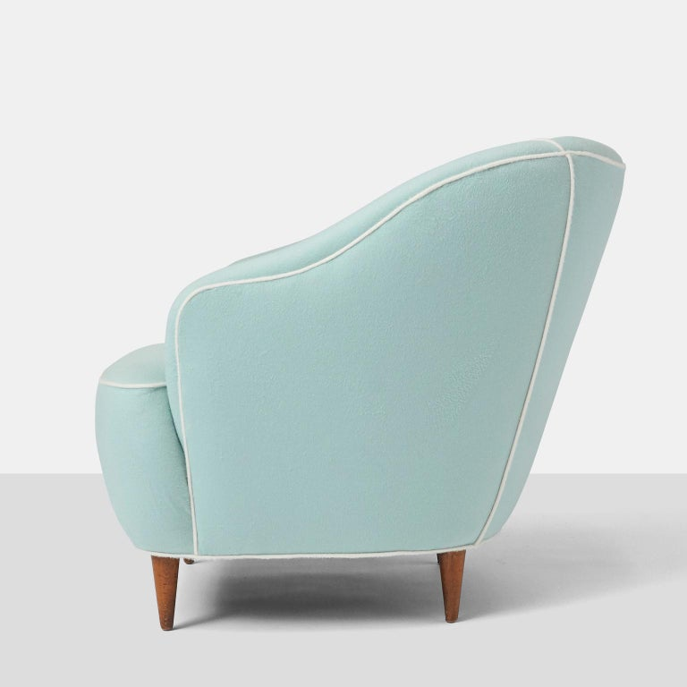 Mid-20th Century Pair of Club Chairs by Gio Ponti for Casa Giardino For Sale