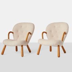 """Pair of Philip Arctander """"Clam"""" Chairs"""