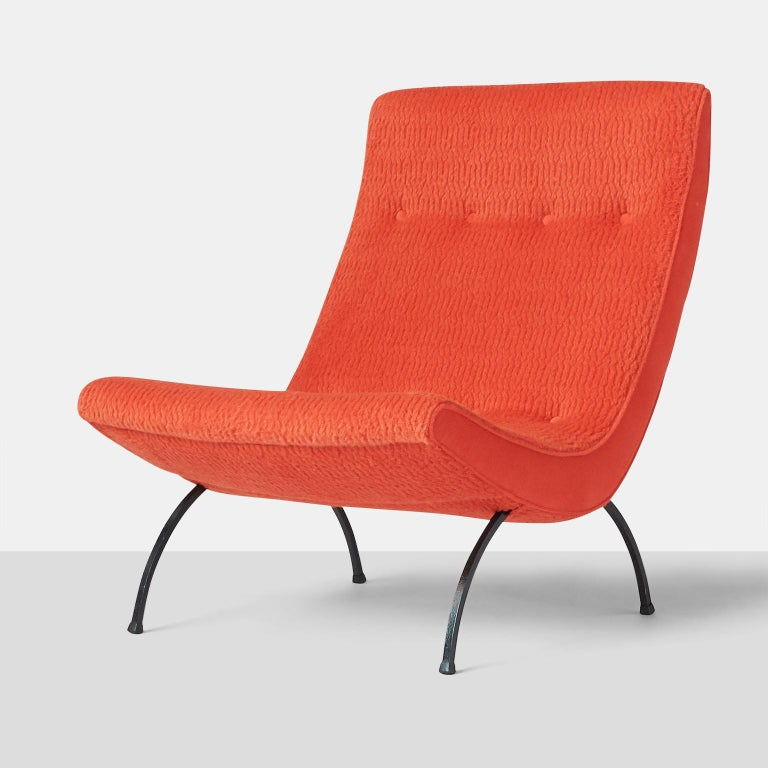 Mid-Century Modern Rare High Back Scoop Chairs by Milo Baughman for Thayer Coggin For Sale