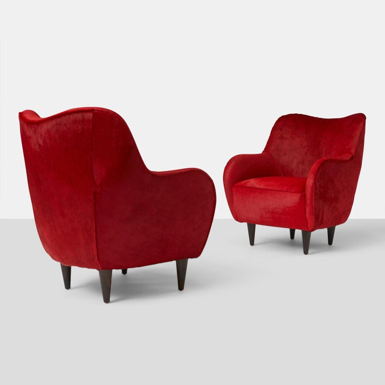 Pair of club chairs by Joaquim Tenreiro