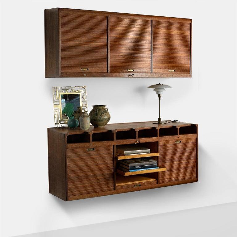 Scandinavian Modern Palle Suenson, Two Part Wall Cabinet For Sale