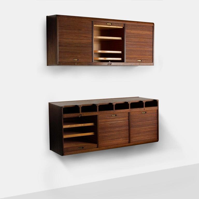 Danish Palle Suenson, Two Part Wall Cabinet For Sale