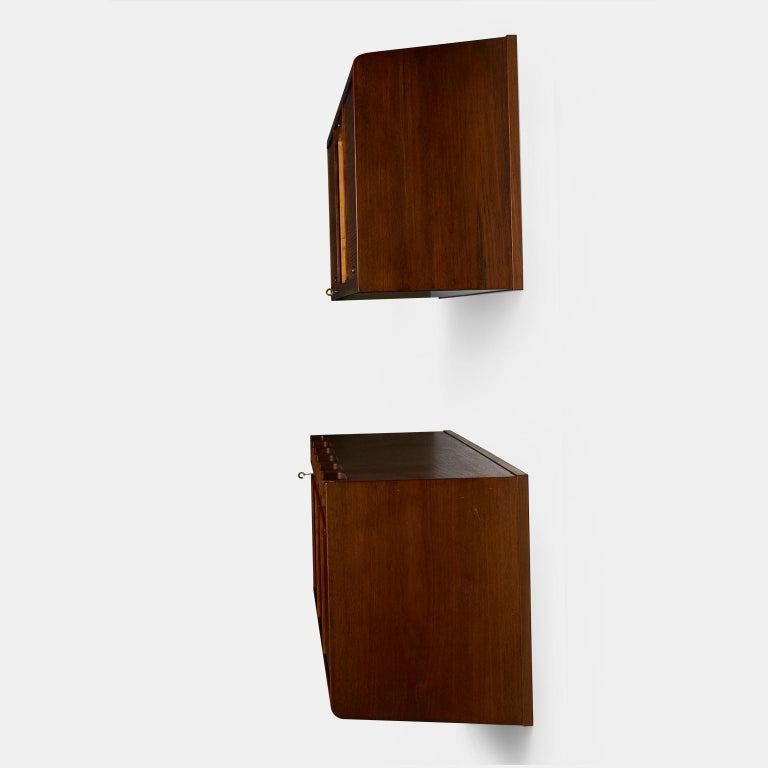 Palle Suenson, Two Part Wall Cabinet In Excellent Condition For Sale In San Francisco, CA