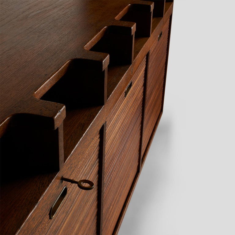 Mahogany Palle Suenson, Two Part Wall Cabinet For Sale