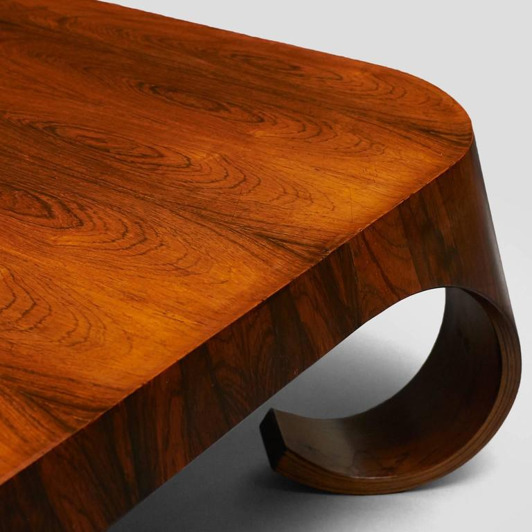 Rosewood Isamu Kenmochi Coffee Table For Sale