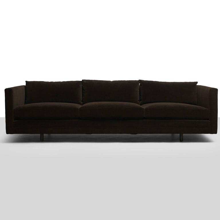 Mid-Century Modern Harvey Probber, Tuxedo Sofa For Sale