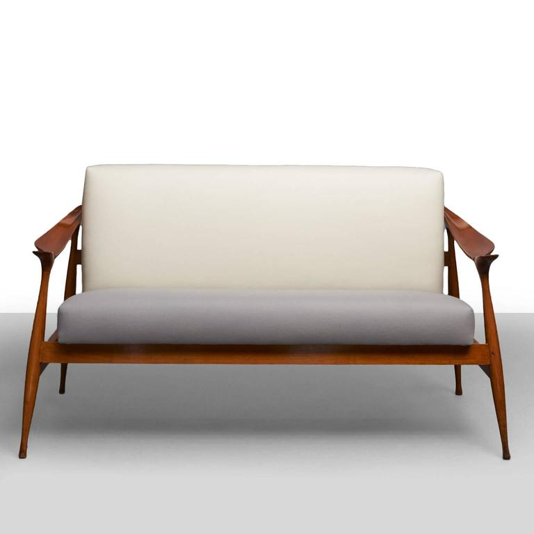 Mid-Century Modern Ico Parisi 'Lord' Settee For Sale
