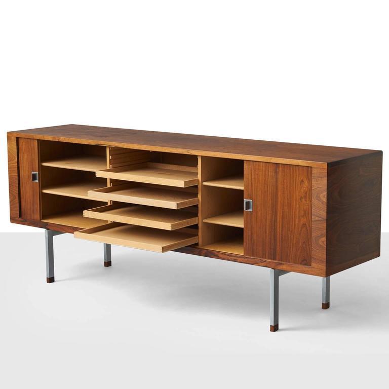 Mid-Century Modern Hans Wegner, Low Rosewood Sideboard For Sale