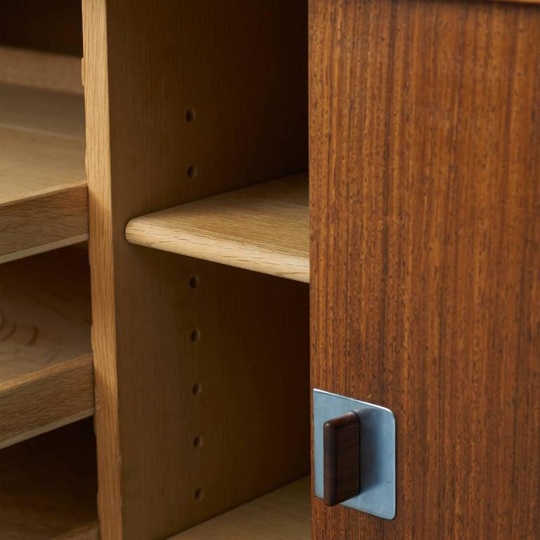 Oak Hans Wegner, Low Rosewood Sideboard For Sale