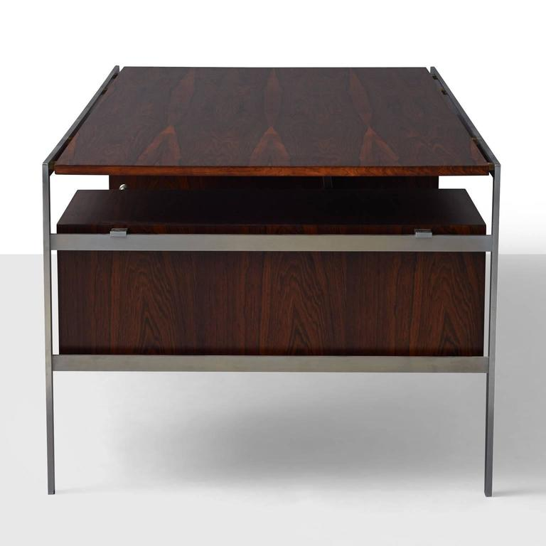 Mid-Century Modern Preben Fabricius and Jorgen Kastholm Executive Desk For Sale