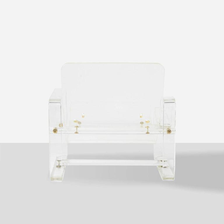 Mid-20th Century Charles Hollis-Jones Attributed Lucite Chaise For Sale