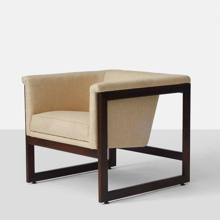 Milo Baughman Floating Cube Lounge Chairs For Sale at 1stdibs